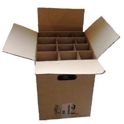 Коробка для бутылок 1л. бурая (на 12 шт)