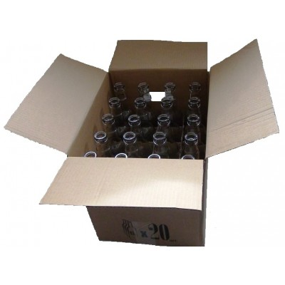 Коробка для бутылок 0,5 бурая (на 20шт)