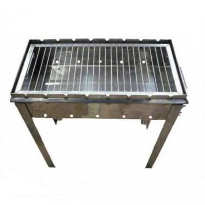 Мангал из нержавейки 700*300*150 1,5 мм +Решетка для гриля