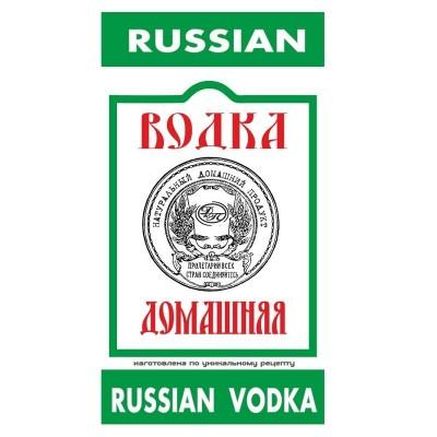 """Наклейка на бутылку """"Русская водка"""""""